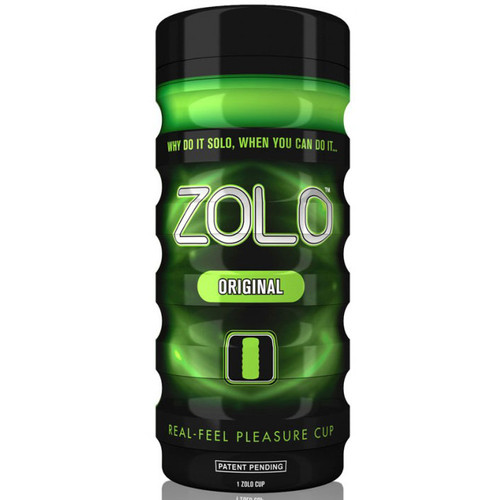 Buy the Zolo Cup Green Original Real Feel Pleasure Cup Stroker Male Masturbator