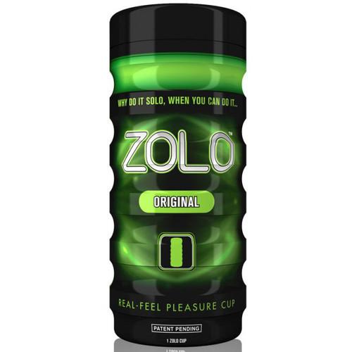Buy the Zolo Cup Green Original Real Feel Pleasure Cup Stroker Male Masturbator