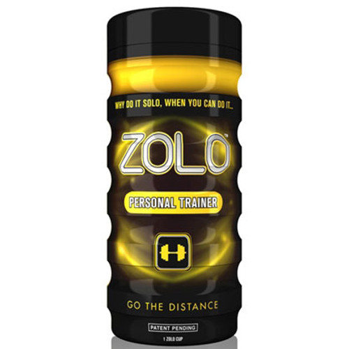 Buy the Zolo Cup Yellow Personal Trainer Real Feel Pleasure Cup Stroker Male Masturbator