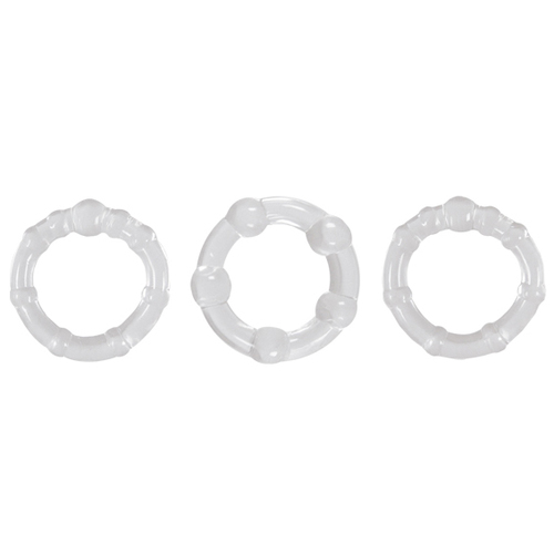 Buy the Renegade Intensity Rings Clear Penis Erection Enhancing Cockrings - NS Novelties