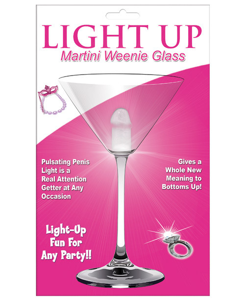 HOTT Products Light Up Martini Weenie Glass Clear