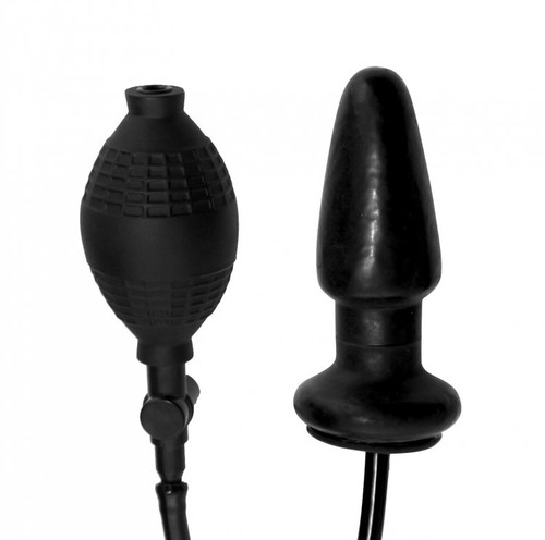 Master Series Expand Inflatable Anal Plug Black