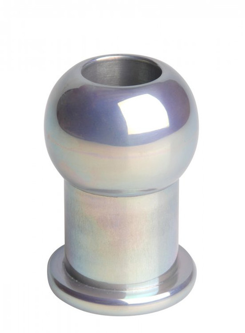 Master Series Hollow Aluminum Anal Plug Small/Medium