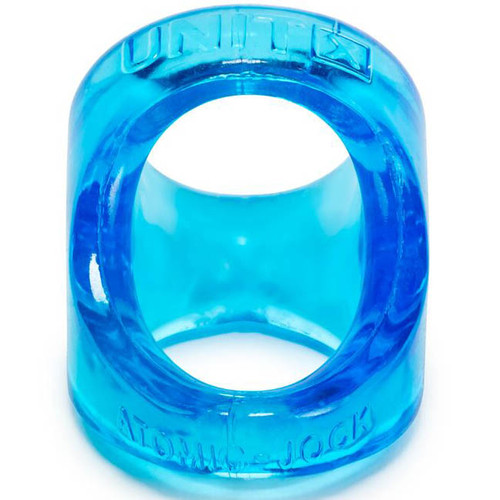 Oxballs Atomic Jock Unit X Sport-Sling Cock & Ball Ring Ice Blue Clear