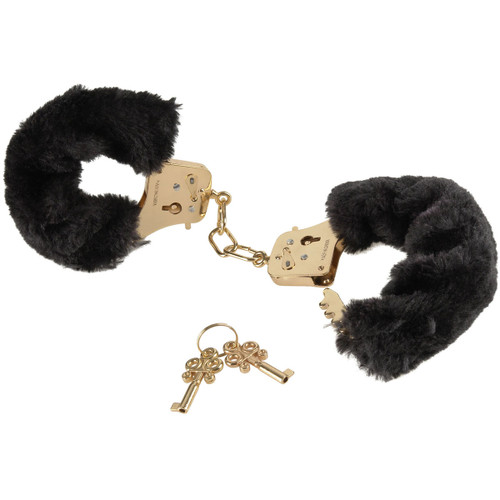 Fetish Fantasy Gold Deluxe Furry Metal Cuffs