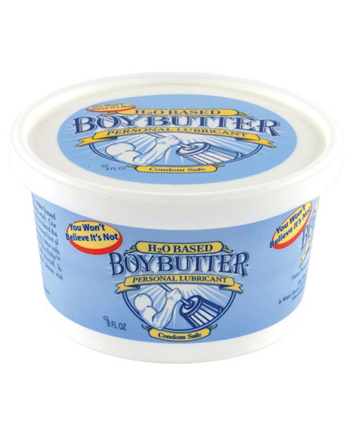 Buy the Boy Butter H20 Water-Based Cream Lubricant 8 oz Tub