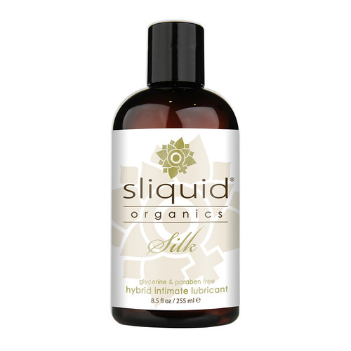 Buy the Organics Silk Hybrid Aloe Water/Silicone-based Lubricant 4.2 oz - Sliquid Made in the USA