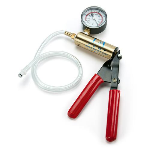 Buy the Deluxe Brass Hand Pump with Pressure PSI Gauge & Hosing penis clitoral nipple enlargement cylinders ED treatment - LAPD LA Pump Distributing