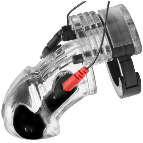 XR Brands Master Series Electro Lockdown Estim Male Chastity Cage