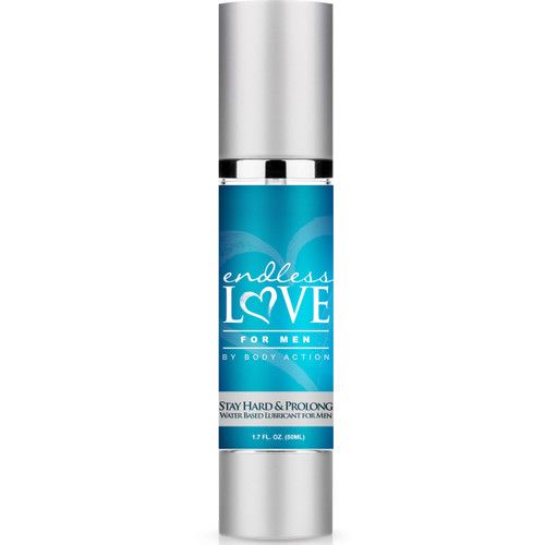 Body Action Endless Love for Men Stay Hard & Prolong Water-Based Lubricant 1.7 oz