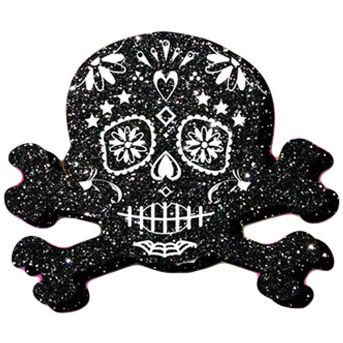 Pastease Black Glittering Candy Skull & Crossbones Pasties for Day of the Dead