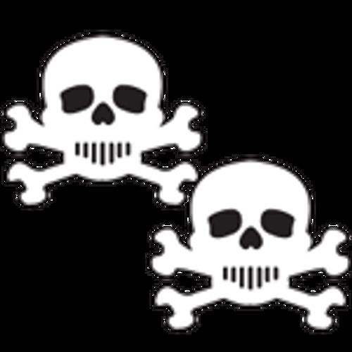 Pastease White & Black Skull & Crossbones Pasties