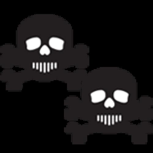 Pastease Black & White Skull & Crossbones Pasties