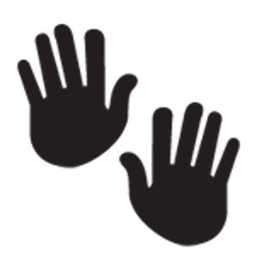Pastease Black Hand Print Pasties