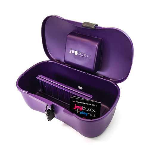 Buy the Joyboxx + Playtray Antimicrobial Intimate Toy Storage Box System in Purple