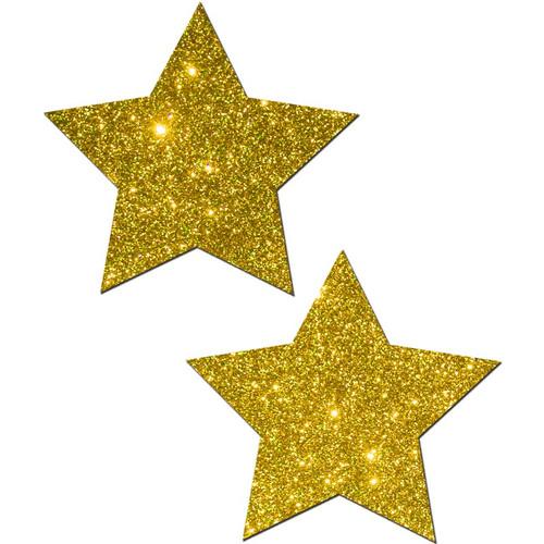 Pastease Rockstar Gold Glitter Star Pasties