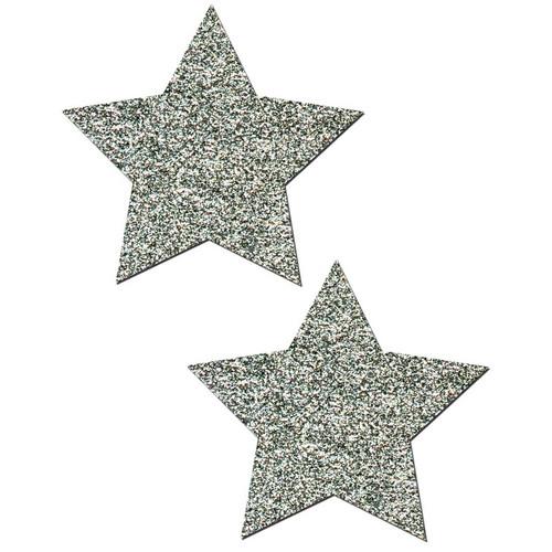 Pastease Rockstar Silver Glitter Star Pasties