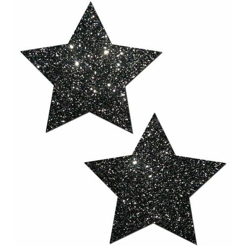 Pastease Rockstar Black Glitter Star Pasties