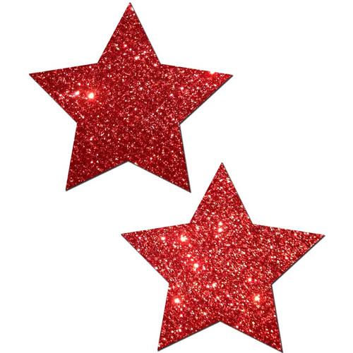 Pastease Rockstar Red Glitter Star Pasties