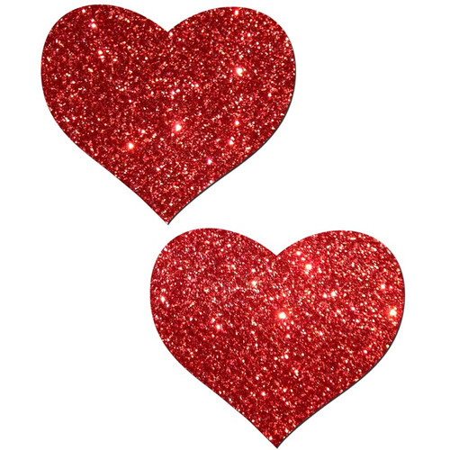 Pastease Sweety Red Glitter Heart Shaped Pasties