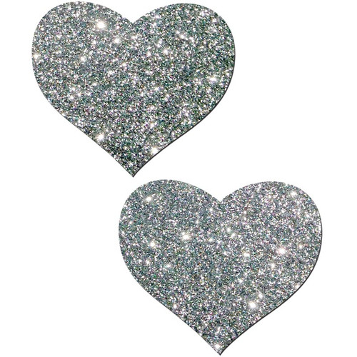 Pastease Sweety Silver Glitter Heart Shaped Pasties