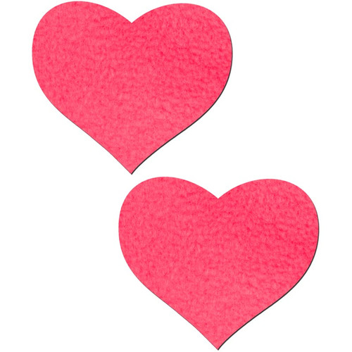 Pastease Neon Pink Day-Glow Heart Shaped Pasties