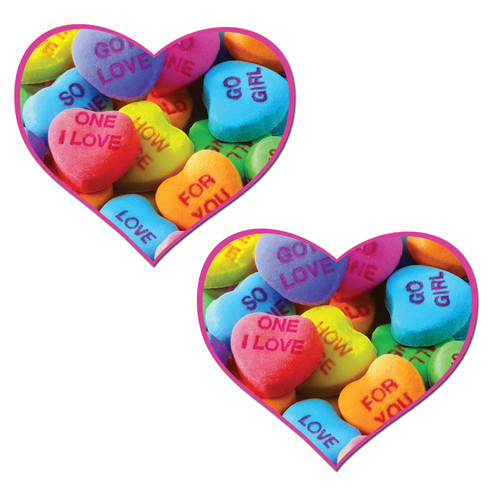 Pastease Sweety Hot Pink Valentine's Candy Hearts Pasties