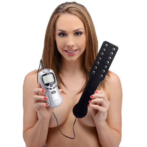 Zeus Electrosex Deluxe E-Stim Spanking Paddle with Powerbox Kit