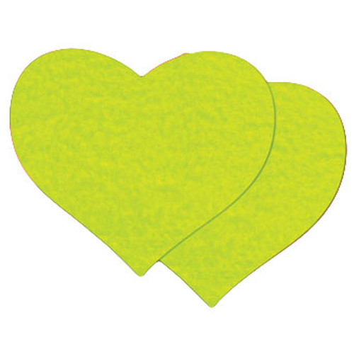 Pastease Neon Yellow Day-Glow Heart Shaped Pasties
