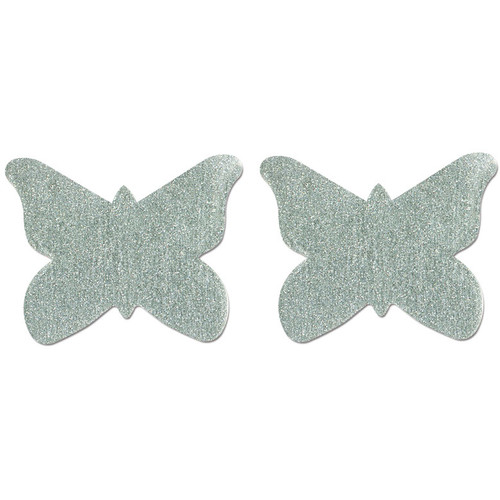 Pastease Silver Glitter Butterfly Shaped Pasties