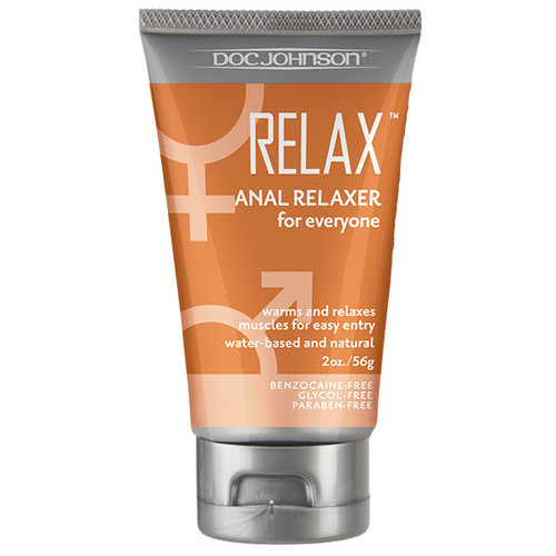 Doc Johnson Relax Anal Relaxer Natural Water-based Cream 2 oz