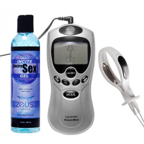 Zeus Electrosex Essentials 3-Piece Vaginal Probe EStim Kit for Her