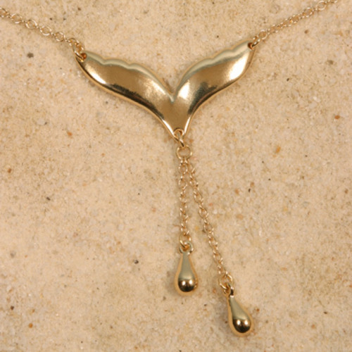 Sylvie Monthule Women's Gold Gull Wing Waist Chain with Tear Drop Pendants