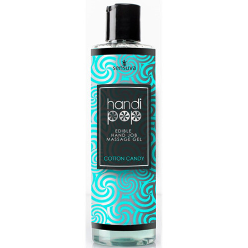 Sensuva Handi Pop Edible Handjob Massage Gel Cotton Candy 4.2 oz