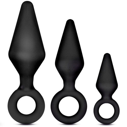 Blush Novelties Night Rimmer Butt Plug Set Black