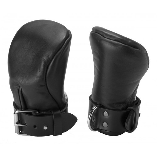 Strict Leather Deluxe Padded Fist Mitts Hand Restraints Medium/Large