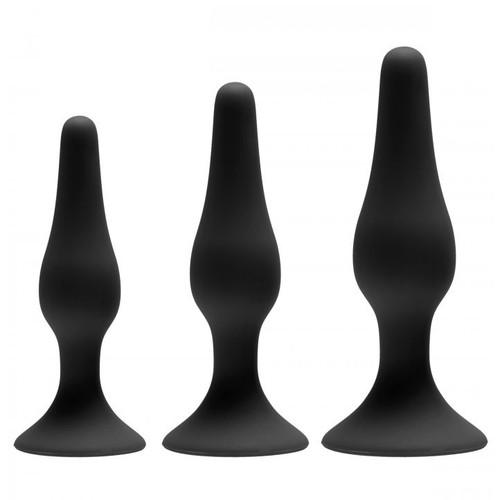Greygasms Apprentice 3-Piece Silicone Anal Trainer Set