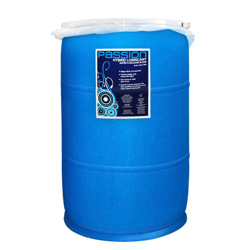 Passion Hybrid Lubricant Water and Silicone Blend 55 Gallon Drum with Pump