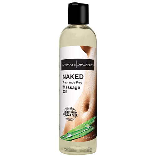 Intimate Organics Aromatherapy Massage Oil Naked Fragrance-free 4 oz
