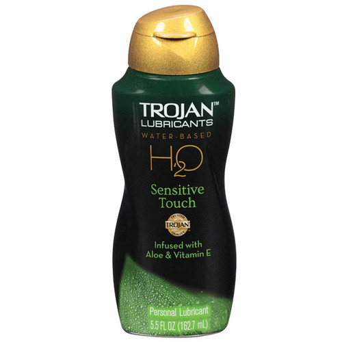 Trojan Lubricants H2O Sensitive Touch with Aloe Water-based Lubricant 5.5 oz