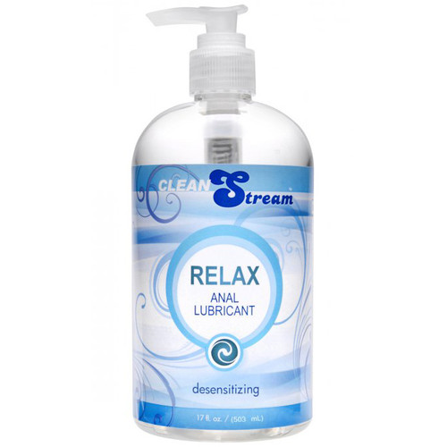 XR Brands CleanStream Relax Light Desensitizing Anal Lubricant 17 oz