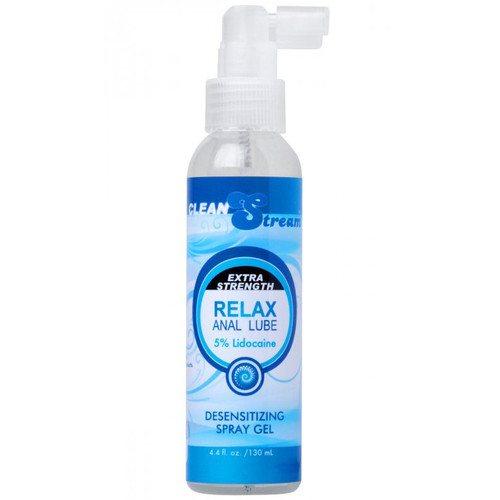 XR Brands CleanStream Relax Extra Strength Desensitizing Anal Lubricant 4.4 oz