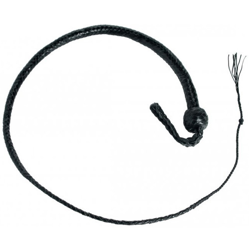 Strict Leather 12 Plait 4 Foot Premium Black Leather SnakeWhip