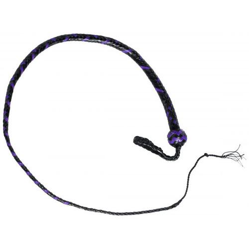 Strict Leather 12 Plait 4 Foot Premium Purple & Black Leather SnakeWhip