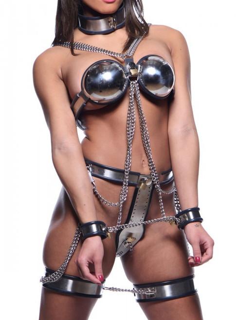 ... Master Series Female Steel Full Body Chastity Bondage Restraints ...