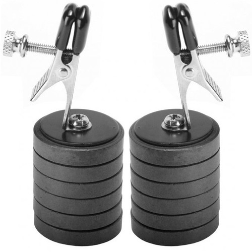 Master Series Onus Nipple Clip with 6 oz Magnet Weights 1 Pair