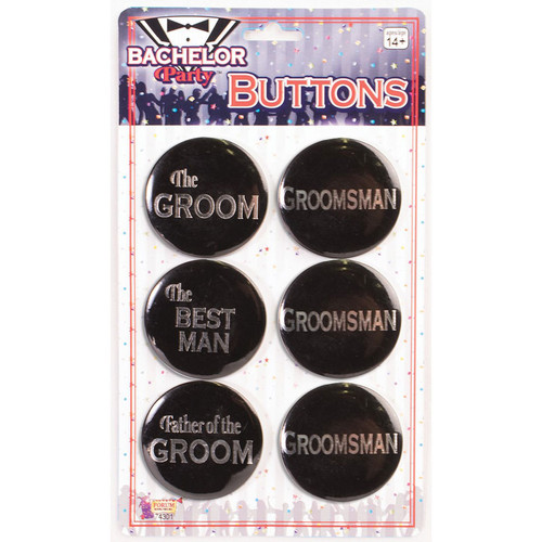 Forum Novelties Bachelor Button Set 6-pack