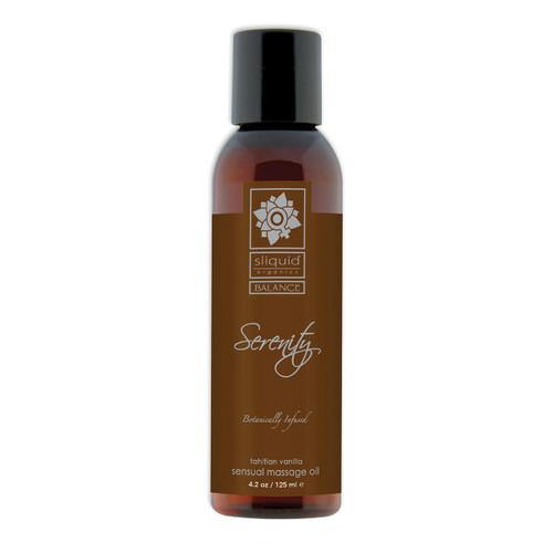 Sliquid Organics Balance Sensual Massage Oil Serenity Tahitian Vanilla 4.2 oz