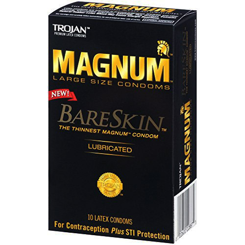 Trojan Magnum Bare Skin Lubricated Condoms 10 Pack