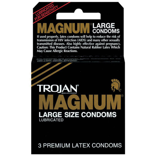 Trojan Magnum Large Size Lubricated Condoms 3 Pack